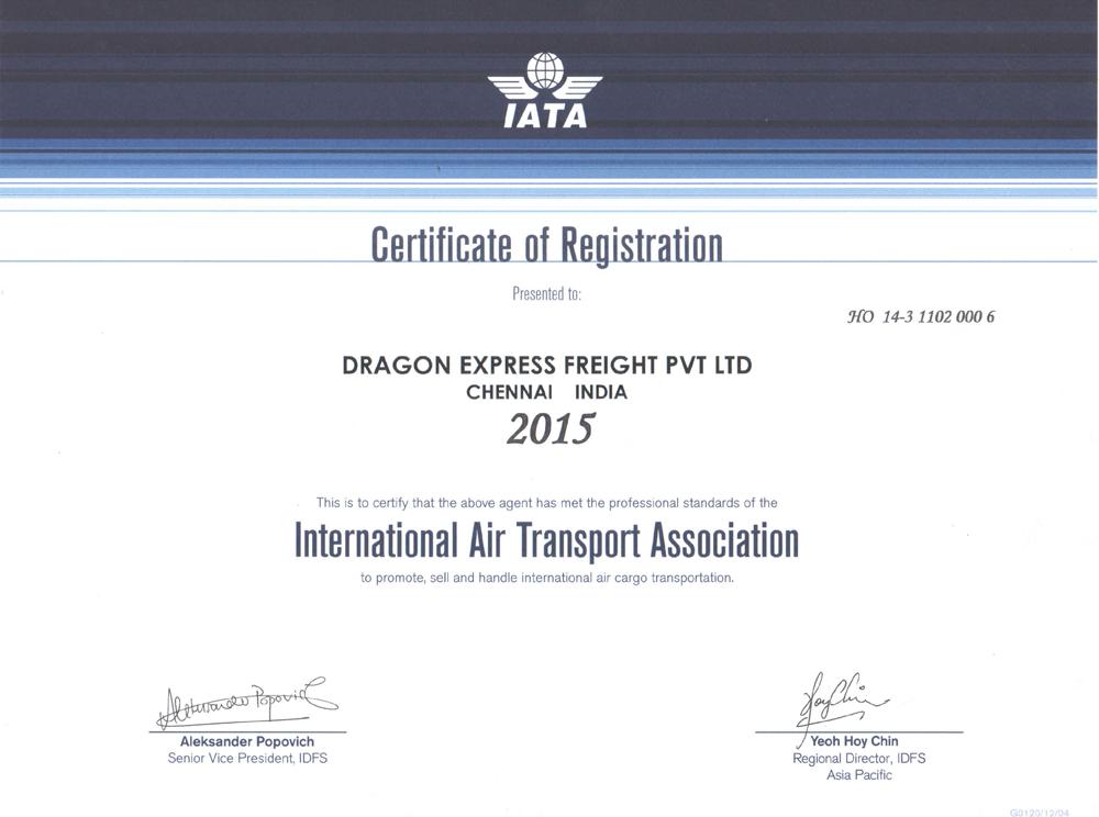 iata certificate accreditations certification
